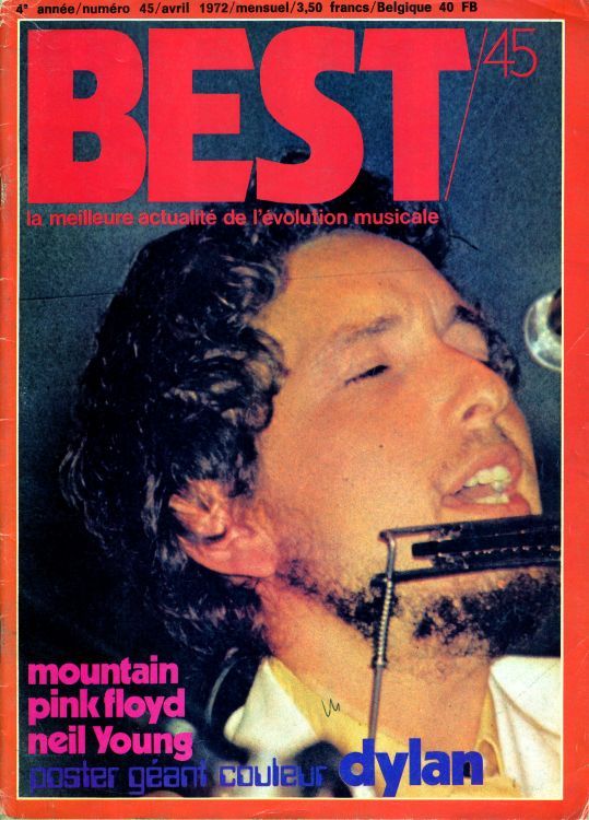 Best 1972 french magazine Bob Dylan cover story