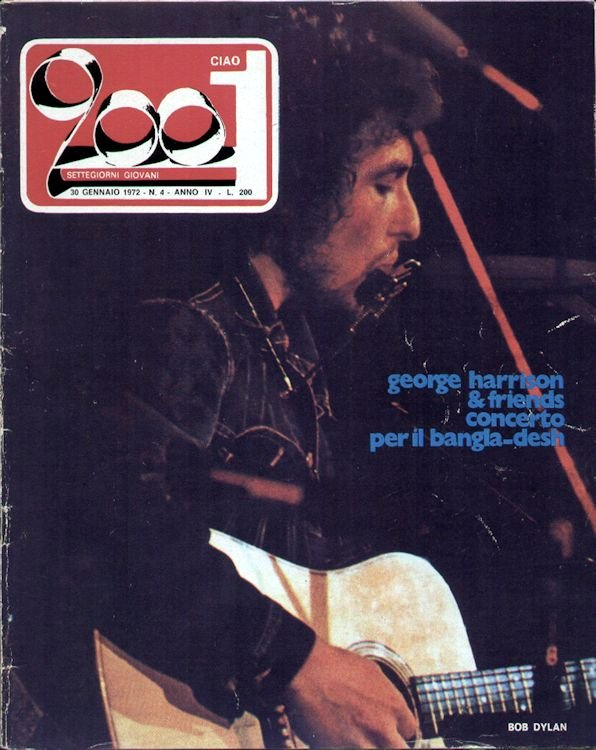 ciao 2001 magazine Bob Dylan cover story