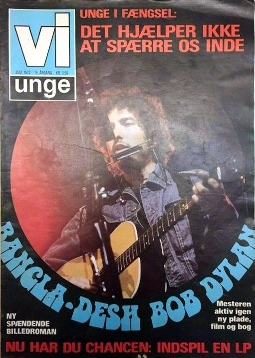 vi unge magazine JUly 1972 Bob Dylan cover story