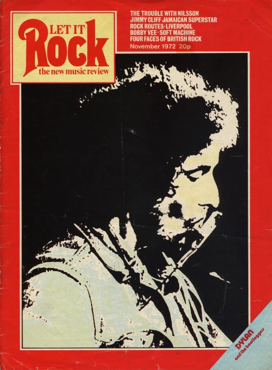 let it rock 1972 11 magazine Bob Dylan cover story