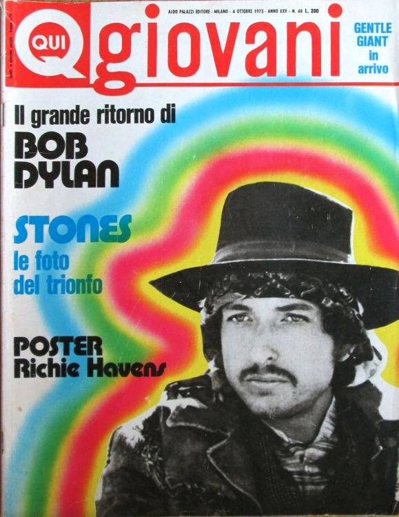 qui giovanni magazine Bob Dylan cover story