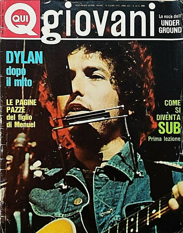 qui giovanni June 1973 magazine Bob Dylan cover story