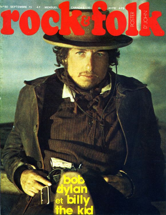 rock & folk magazine france #80  Bob Dylan cover story