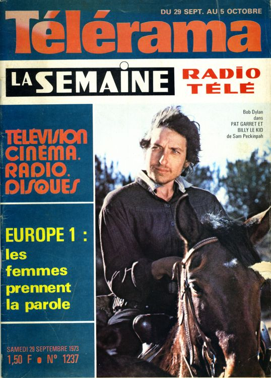 telerama 23 September 1973 magazine france Bob Dylan cover story