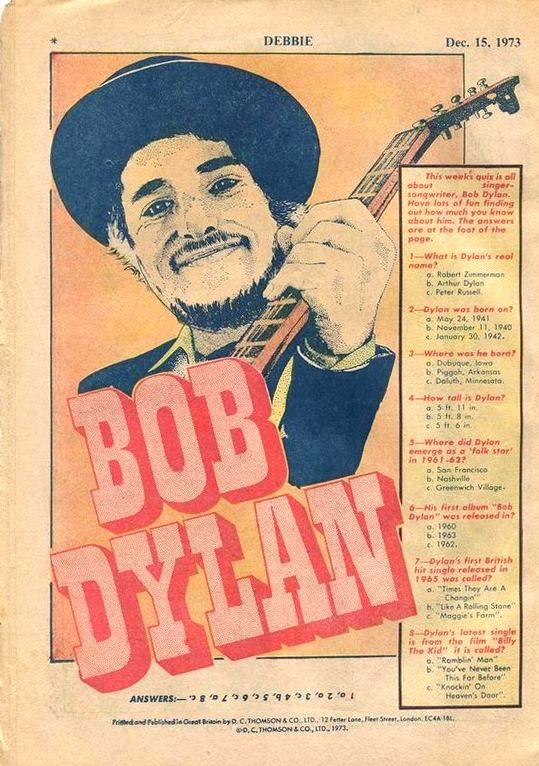 debbie magazine Bob Dylan cover story