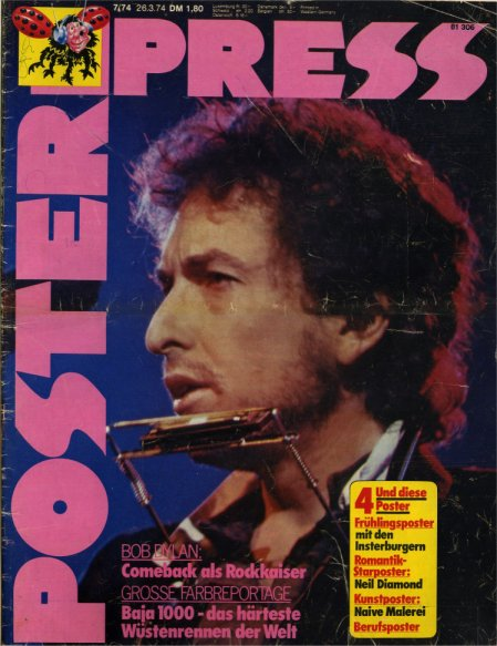 poster press magazine Bob Dylan cover story