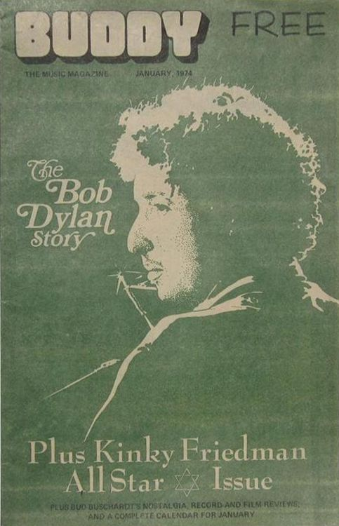 buddy texas magazine Bob Dylan cover story