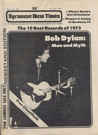 syracuse new times Bob Dylan cover story