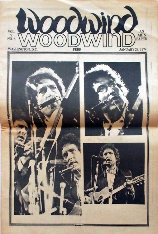 woodwind magazine Bob Dylan cover story