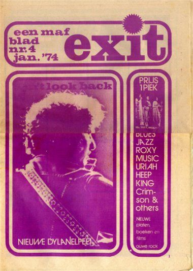 exit magazine Bob Dylan cover story