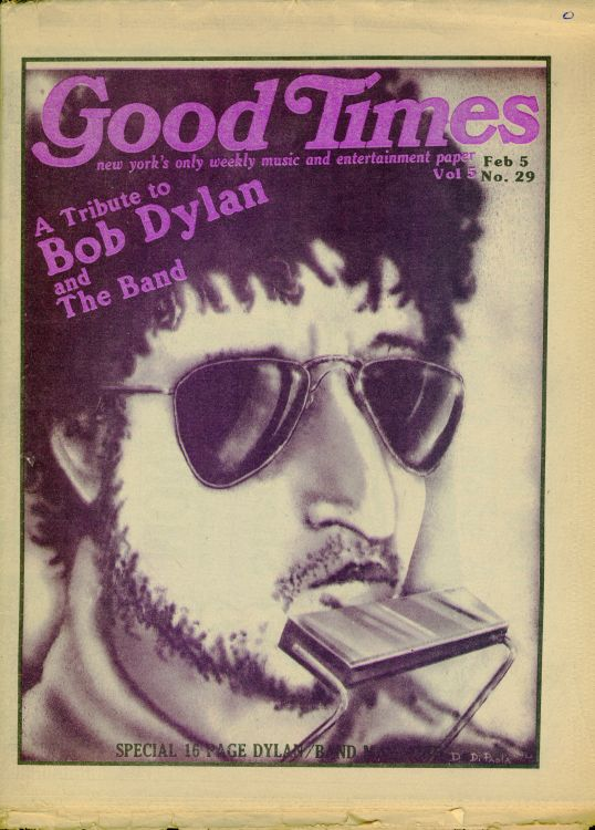 good times 1974 magazine Bob Dylan cover story