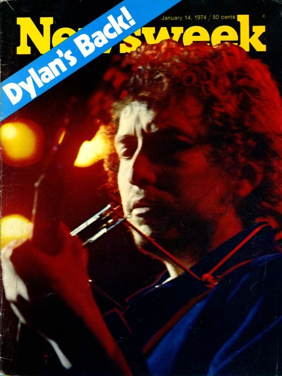 newsweek 1974 magazine Bob Dylan cover story