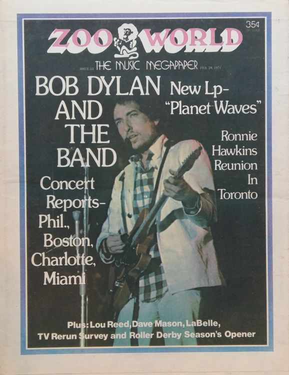 zoo world magazine #52 Bob Dylan cover story