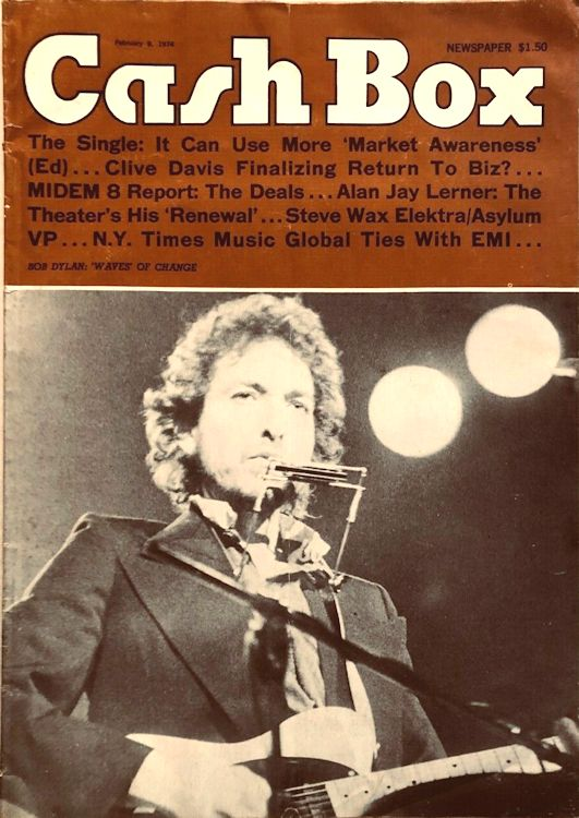 cash box magazine Bob Dylan cover story