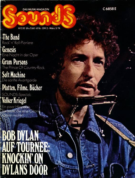 sounds germany March 1974 magazine Bob Dylan cover story