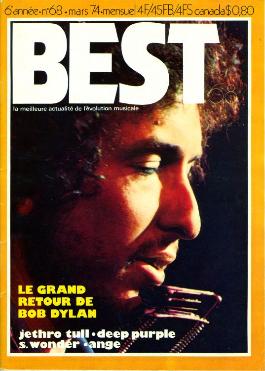 Best 1974 french magazine Bob Dylan cover story
