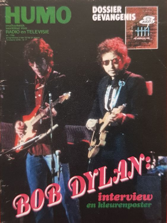 humo 1974 magazine Bob Dylan cover story