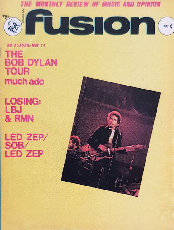 fusion 1974 04 magazine Bob Dylan cover story