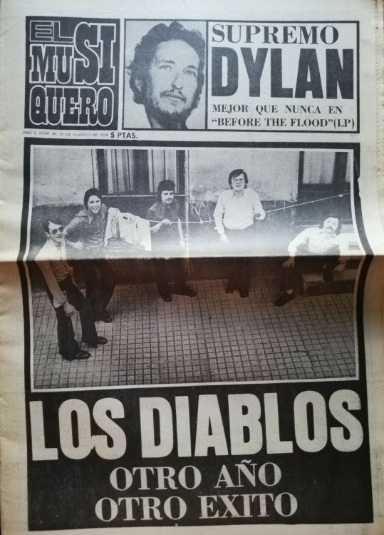 el musiquero magazine 31 August 1974 Bob Dylan cover story