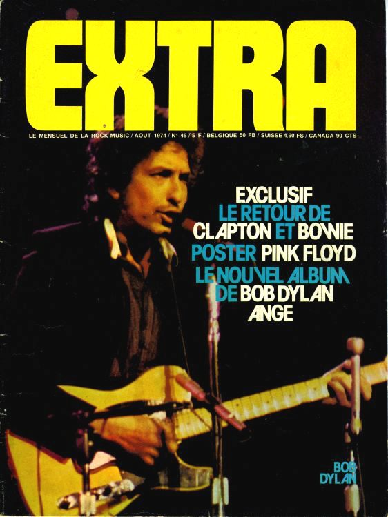 extra 1974 08 magazine Bob Dylan cover story