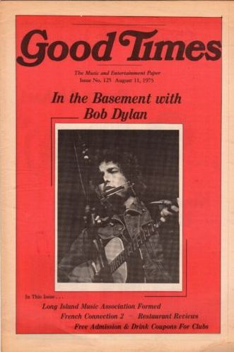 good times 1975 magazine Bob Dylan cover story