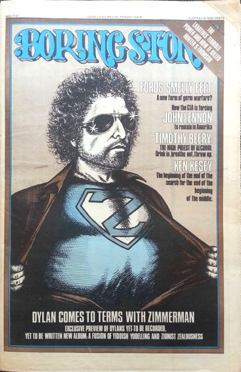 loose licks 1975 magazine Bob Dylan cover story
