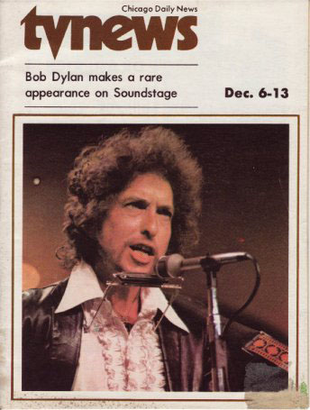 tv news chicago daily news magazine Bob Dylan cover story
