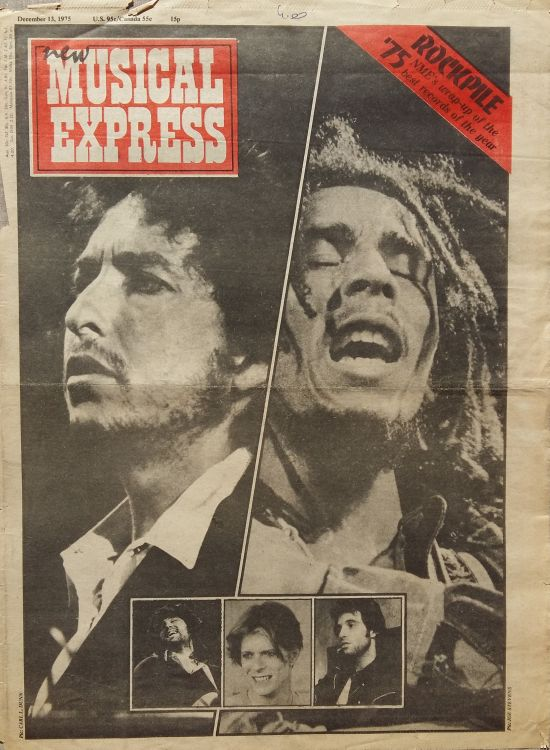 New Musical Express 13 December 1975 Bob Dylan cover story