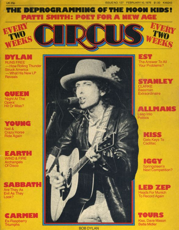 circus 1976 02 magazine Bob Dylan cover story