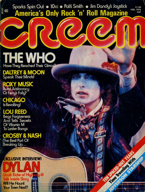 creem magazine 1977 02 Bob Dylan cover story
