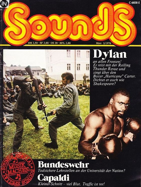 sounds germany March 1976 magazine Bob Dylan cover story