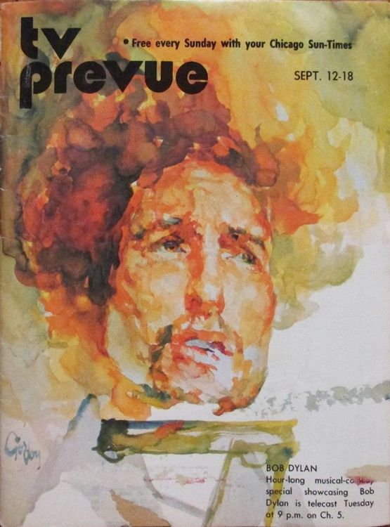 tv prevue Sunday Chicago Sun-Times supplement magazine Bob Dylan cover story