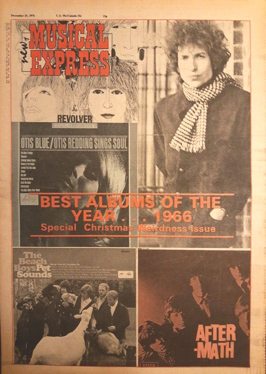 New Musical Express 25 December 1976 Bob Dylan cover story