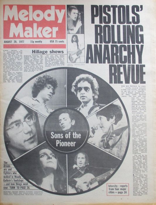 Melody Maker 20 August 1977 Bob Dylan cover story