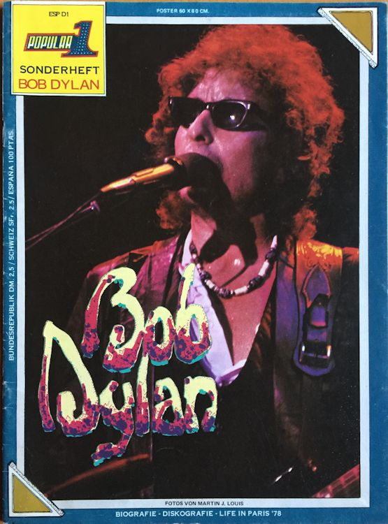 popular 1 spain 1978 magazine Bob Dylan cover story