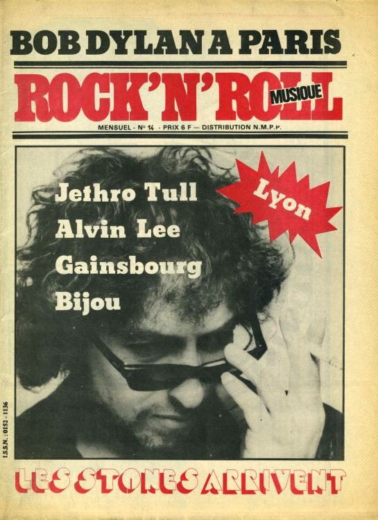 rock 'n' roll musique magazine Bob Dylan cover story
