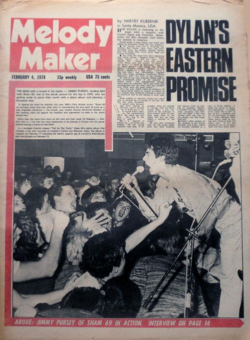 Melody Maker 4 February 1978 Bob Dylan cover story