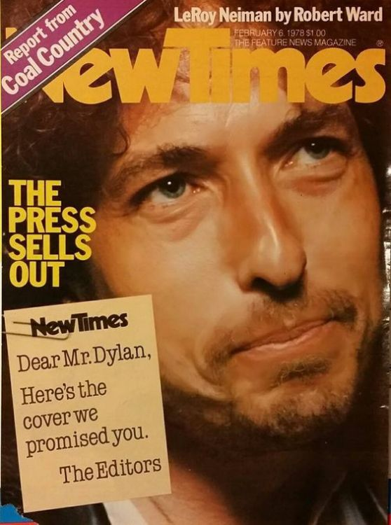 new times 1978 magazine Bob Dylan cover story