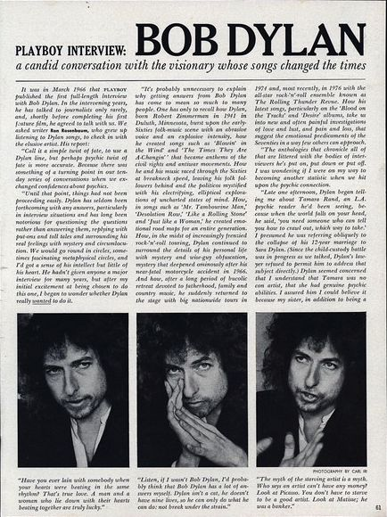 Playboy March 1978 with Dylan interview