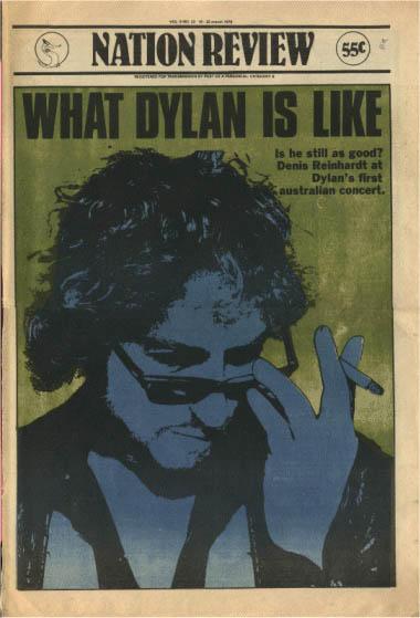 nation review magazine Bob Dylan cover story