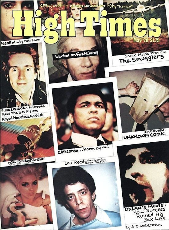 high times 1978 magazine Bob Dylan cover story