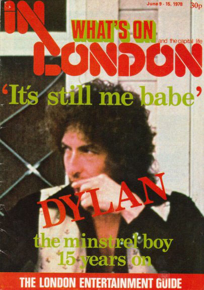 what's on in london magazine Bob Dylan cover story