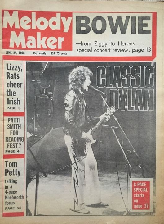 Melody Maker 24 June 1978 Bob Dylan cover story