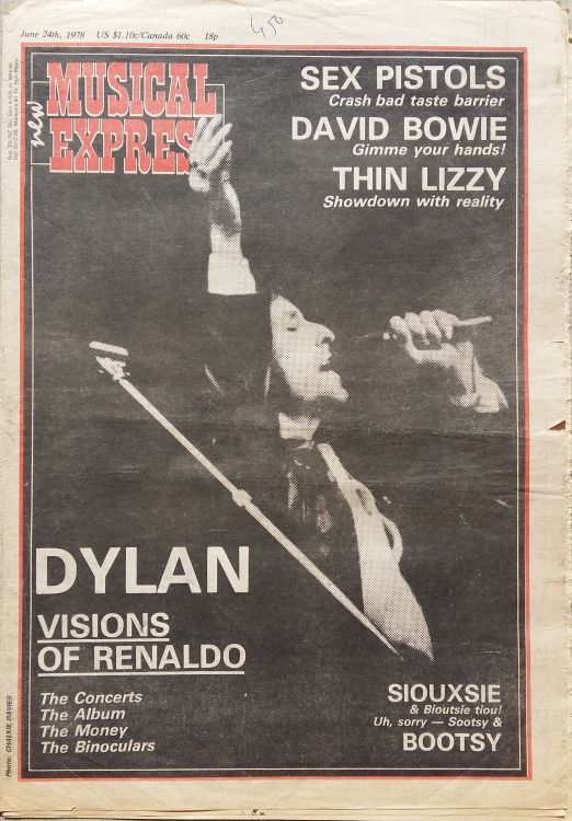 New Musical 24 June 1978 Express Bob Dylan cover story