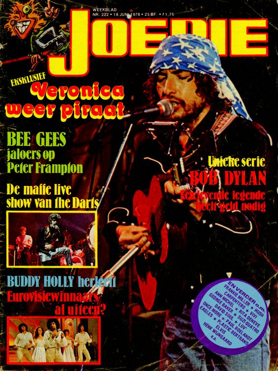 joepie magazine Bob Dylan cover story