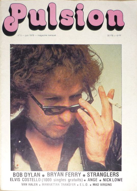 pulsion belgium magazine Bob Dylan cover story
