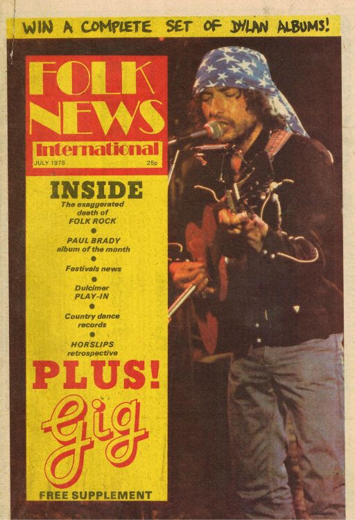 folk news international magazine Bob Dylan cover story
