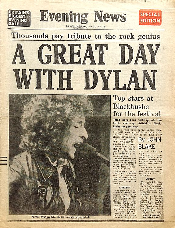 evening news magazine Bob Dylan cover story
