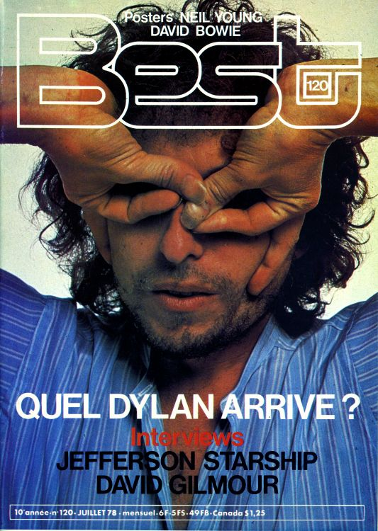 Best 1978 french magazine Bob Dylan cover story