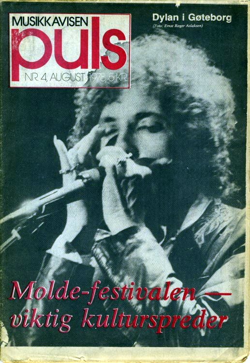 puls norway 1978 magazine Bob Dylan cover story